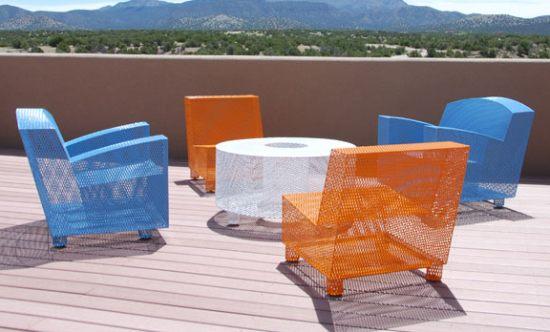Dwell on Design Half13 allmetal outdoor furniture HomeToneorg