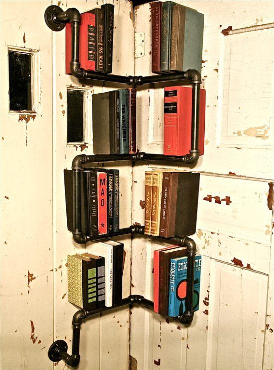 Industrial Corner Pipe Shelf 3