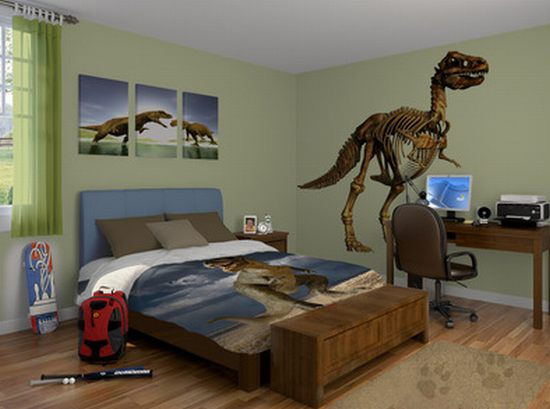 bring prehistoric wilderness indoors with visionbedding s. Black Bedroom Furniture Sets. Home Design Ideas