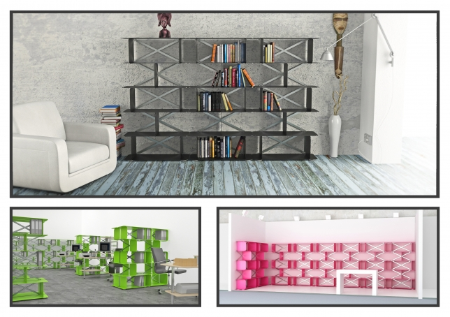 Zigzag shelves