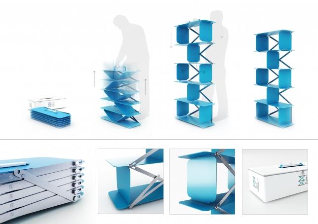 Zigzag shelving system