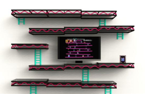 Donkey Kong Inspired Wall Shelf For Geeky Home D Cor