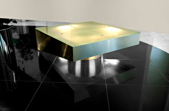 Equilibrist coffee table