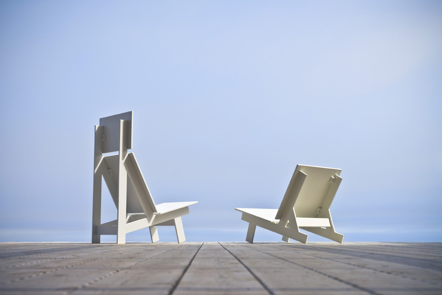 Recycled chairs by David Salmela