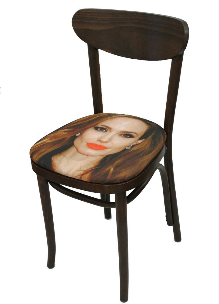 Sit On My Face Angelina Jolie Art Chair