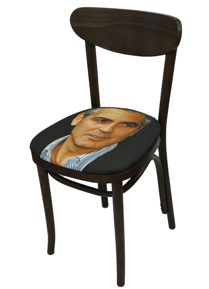 Sit On My Face George Clooney Art Chair