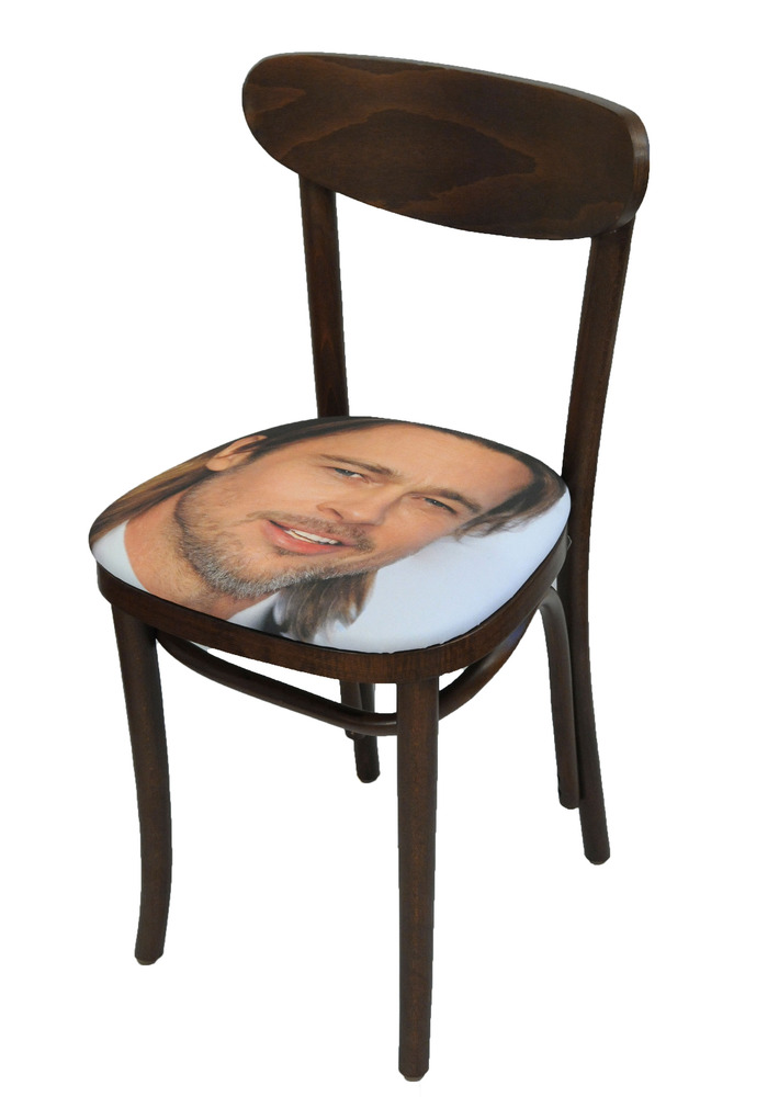 Sit on My Face Brad Pitt Art Chair