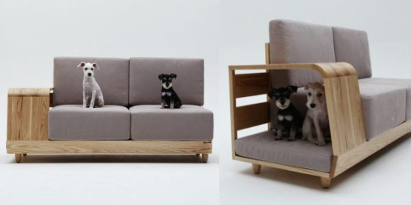 Kitchen Sofa a sofa with integrated doghouse makes good sense - hometone