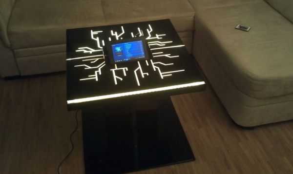 Tron Legacy coffee table