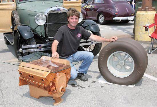 Brandenburg WoodWorks 350 engine coffee table
