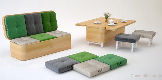 Transforming furniture HomeToneorg : Convertible sofa by Julia Kononenko from www.hometone.org size 550 x 273 jpeg 26kB