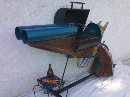 Double Barrel Shotgun BBQ grill 4