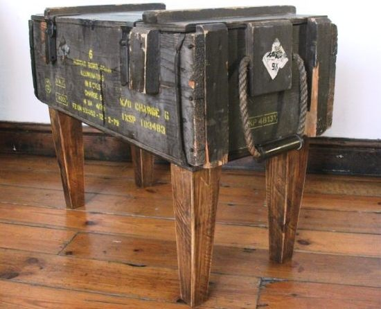Katie Thompson Ammo Crate Sidetable