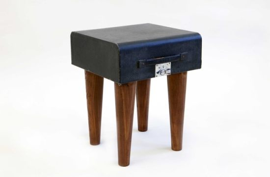 Katie Thompson Suitcase Sidetable
