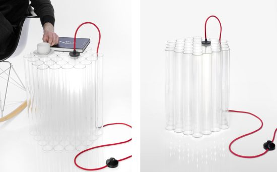 Illuminated Side Table by Dan Ipp