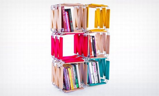 Modular bookcase by Ian Reveley 1