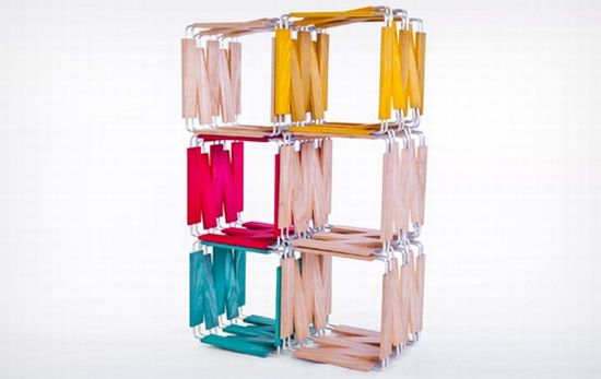 Modular bookcase by Ian Reveley 2