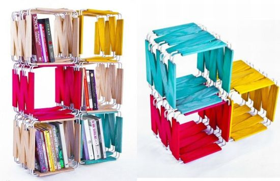 Modular bookcase by Ian Reveley