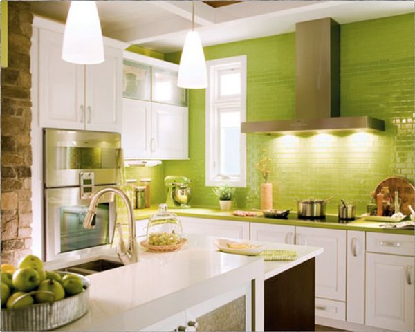 lighting-fixtures-for-small-kitchen-ideas-with-green-color