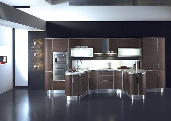 Curved-modern-kitchen-cabinets