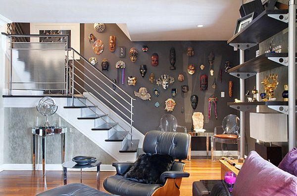 Mask-Collection-Lining-The-Stairs