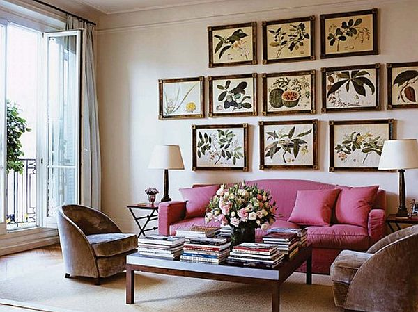 Botanical Prints on walls