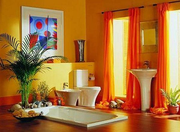 Colorful Concept in Bathroom Interior Design