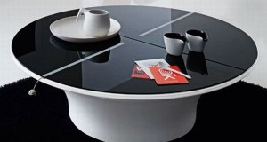 Lotto circular coffee table with storage