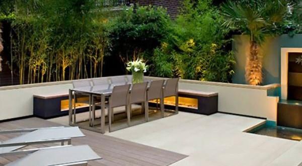 Rooftop garden dining