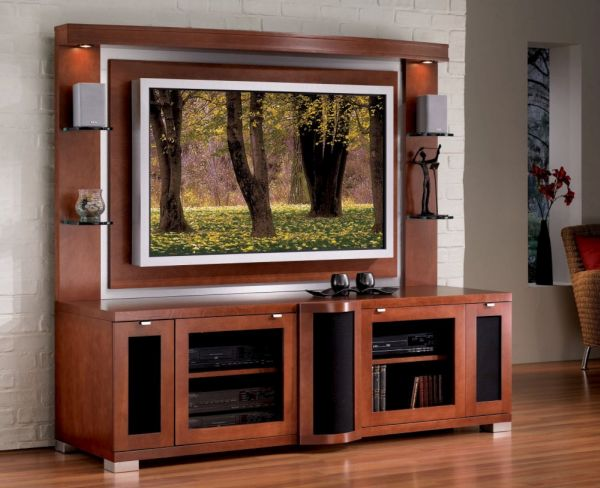 Huge TV stands with cabinets and shelves