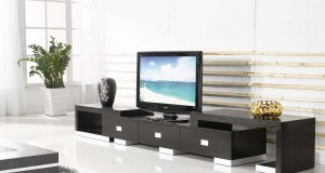 TV stands with cabinets and shelves