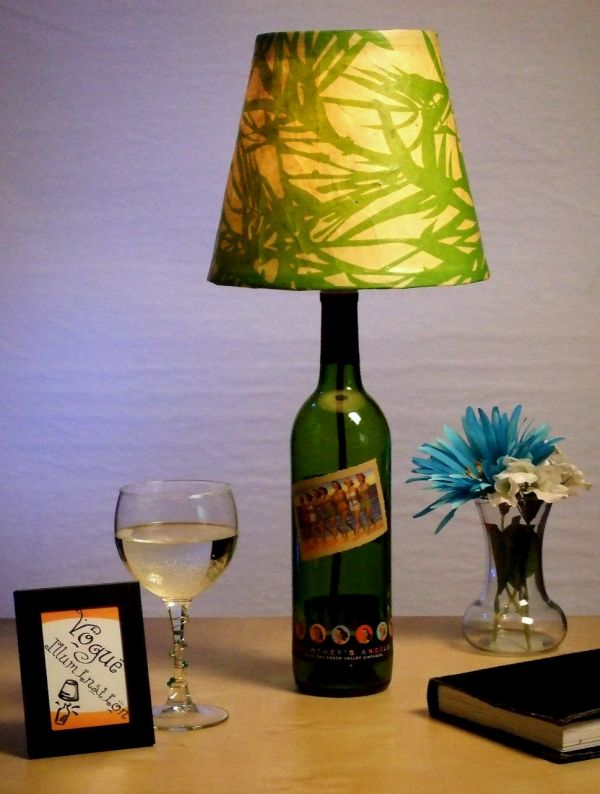 Wine Bottle Table Lamp