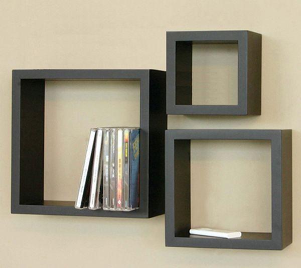 Floating cube shelves