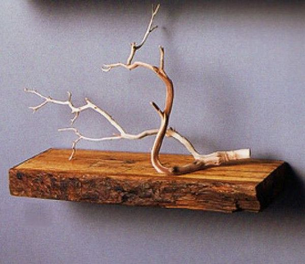 Floating shelves with a traditional edge