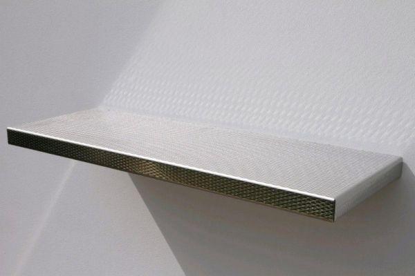 Stainless steel floating shelves