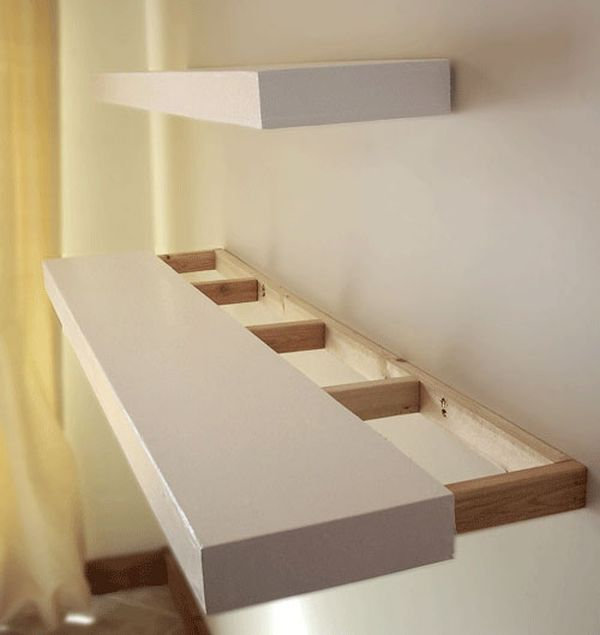 Long floating shelf