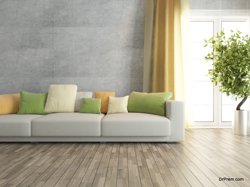 Convert old flooring with Paint