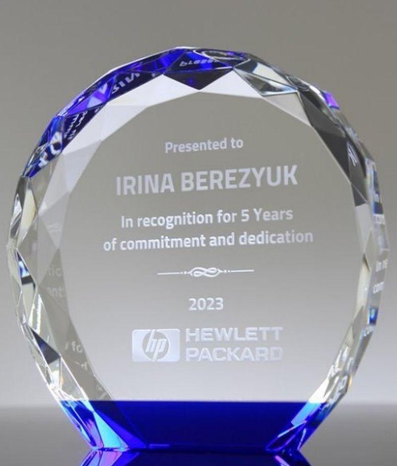 beautiful crystal or glass awards