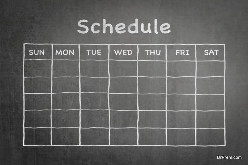Paint a Chalkboard Calendar