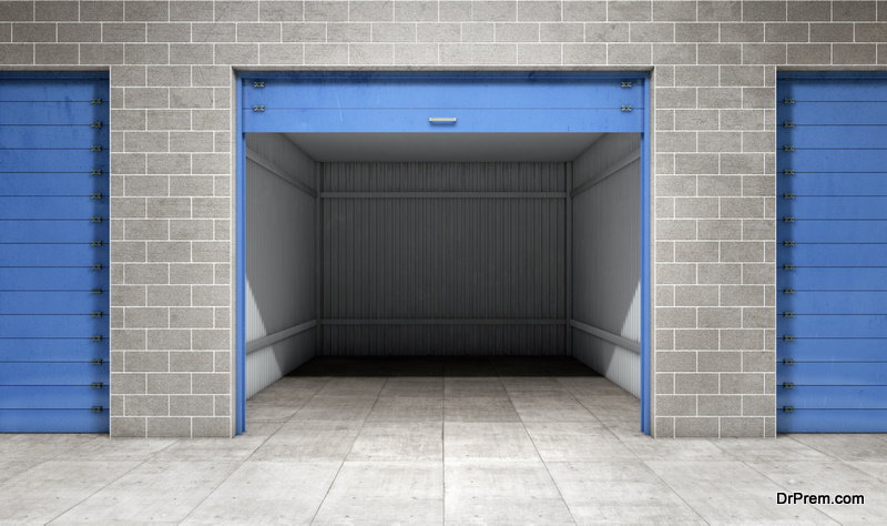 storage units during the selling process